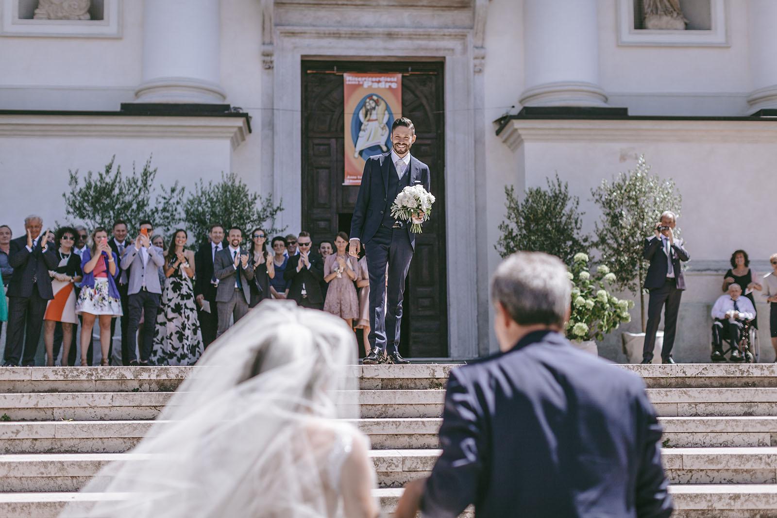 Matrimonio a Vicenza dove lo stile del Palladio fa da cornice e da testimone all'unione tra Silvia e massimo che festeggiano a Villa Godi Malinverni.